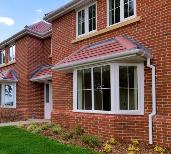 An empty new house with uPVC windows and doors